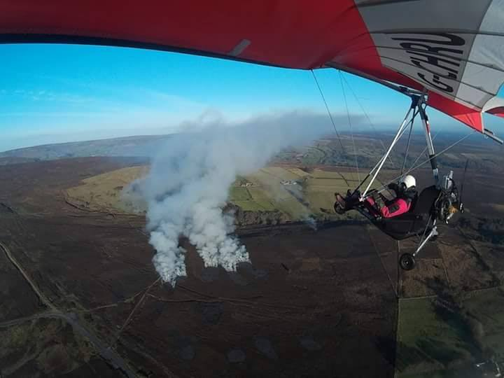 Heather burning at the southern end of Bransdale moor (near to Fadmoor and Gillamoor), these were taken by local man John Kendle whilst out flying his microlight plane.