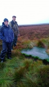 Slowing the flow, reducing erosion of peat and introducing Sphagnum moss has improved water quality on this water catchment site also managed for grouse and sheep grazing.